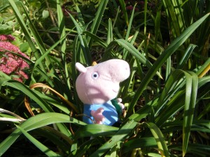 Image for Peppa pig in the garden in Spanish