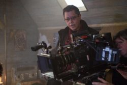 A behind the scenes shot of director Dean Devlin and Director of Photography David Connell in BAD SAMARITAN. Photo Credit: Courtesy of Electric Entertainment
