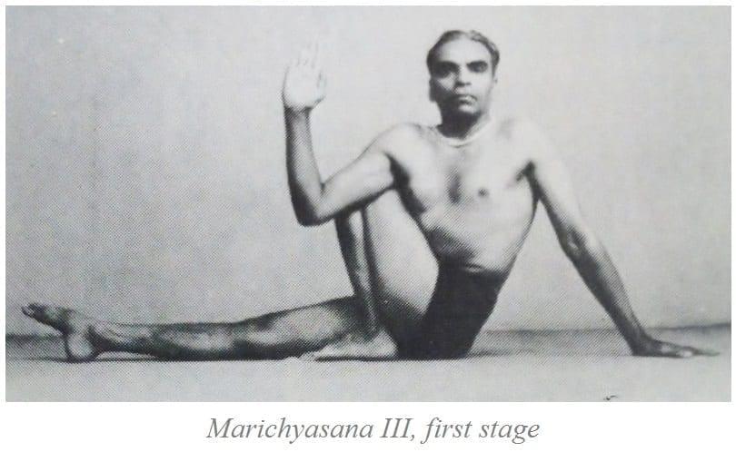 Marichyasana C, BKS Iyengar