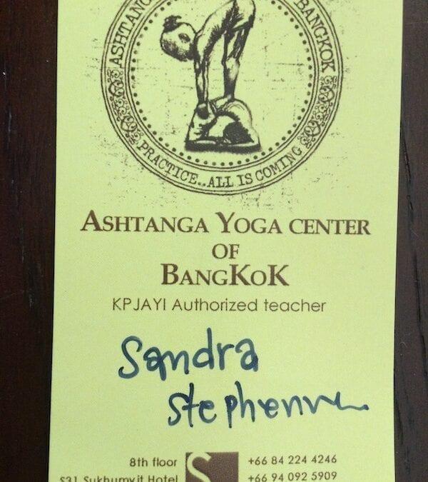 Pratique Ashtanga Bangkok