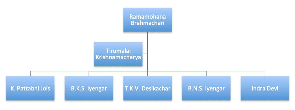 Ashtanga Yoga hiéarchie
