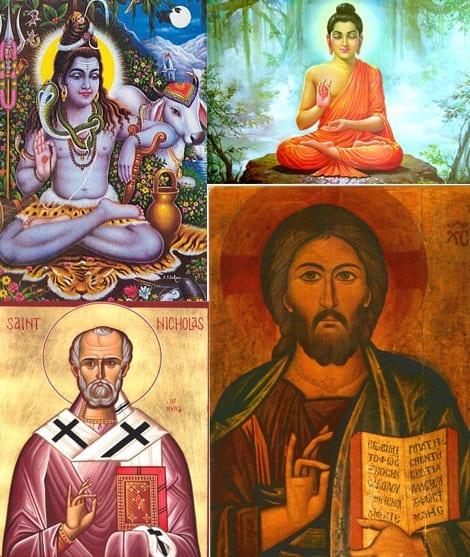 Shiva, Buddha, Saint Nicolas, Jesus