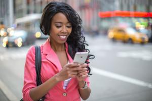 African American black cosmopolitan woman in New York City