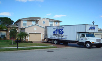 All The Right Moves moving truck being loaded