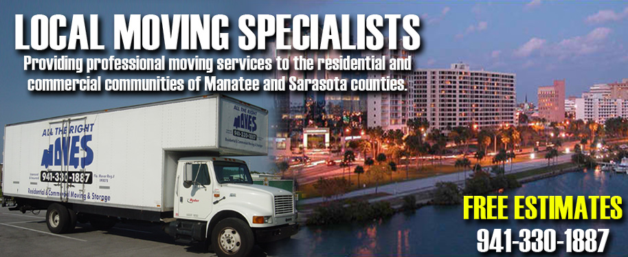 Local Moving Specialists in Manatee, Bradenton, and Sarasota