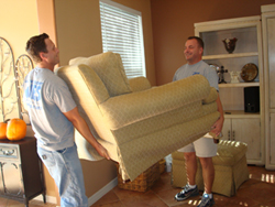 Moving a customers couch