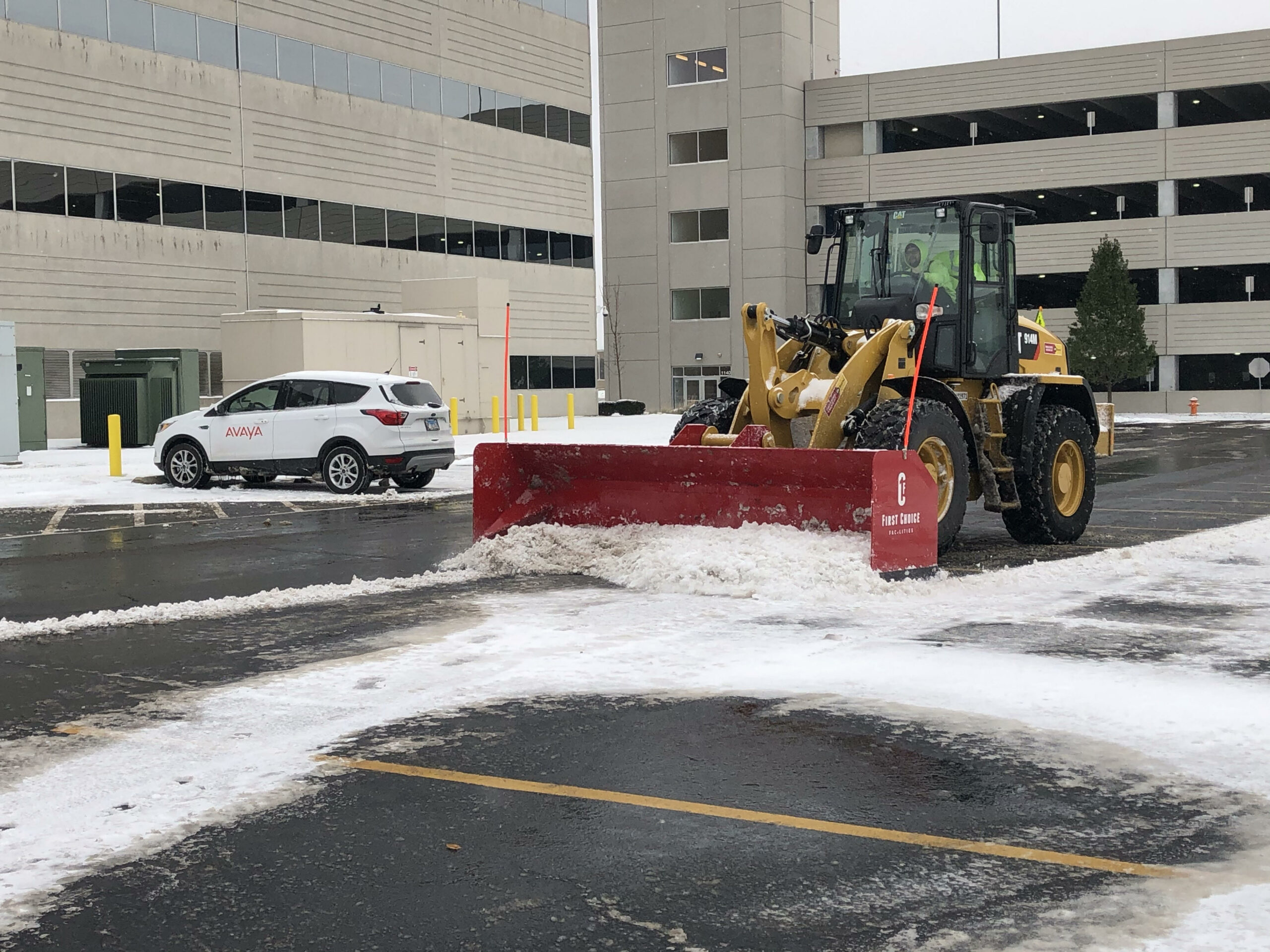 Commercial Lot Plowing
