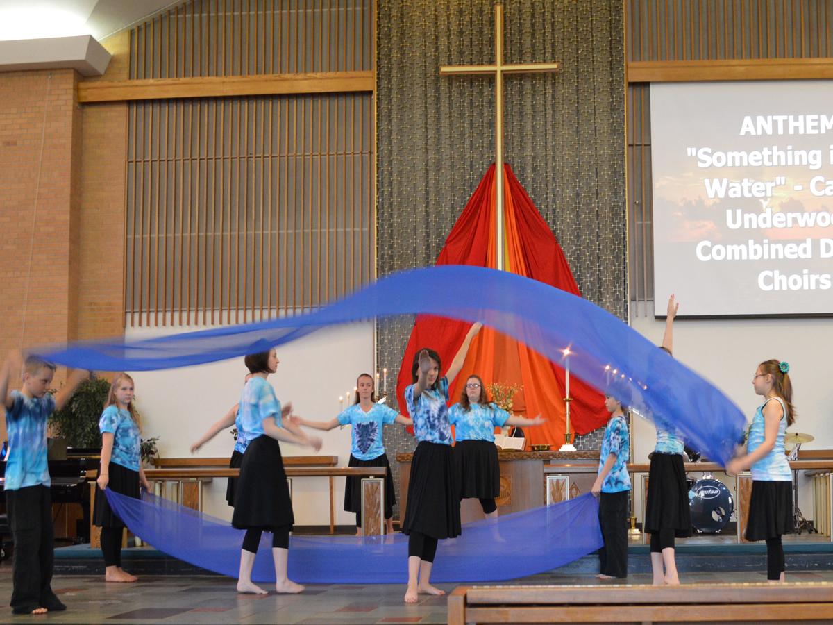 Liturgical Dance for children at Central United Methodist