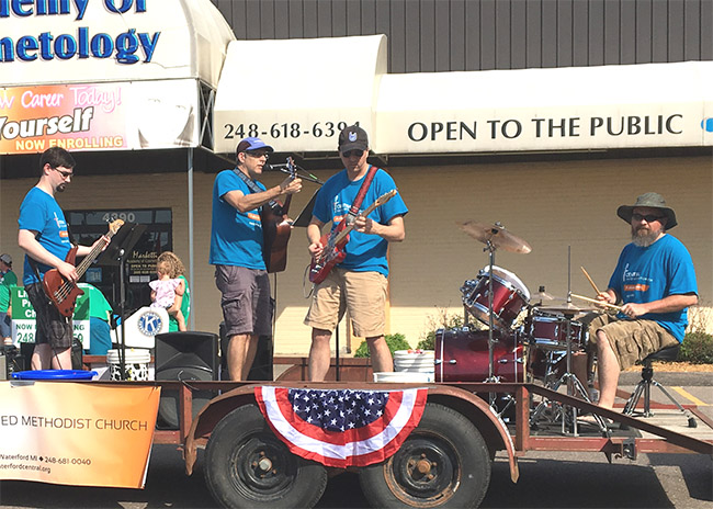 Praise Band in Memorial Day Parade