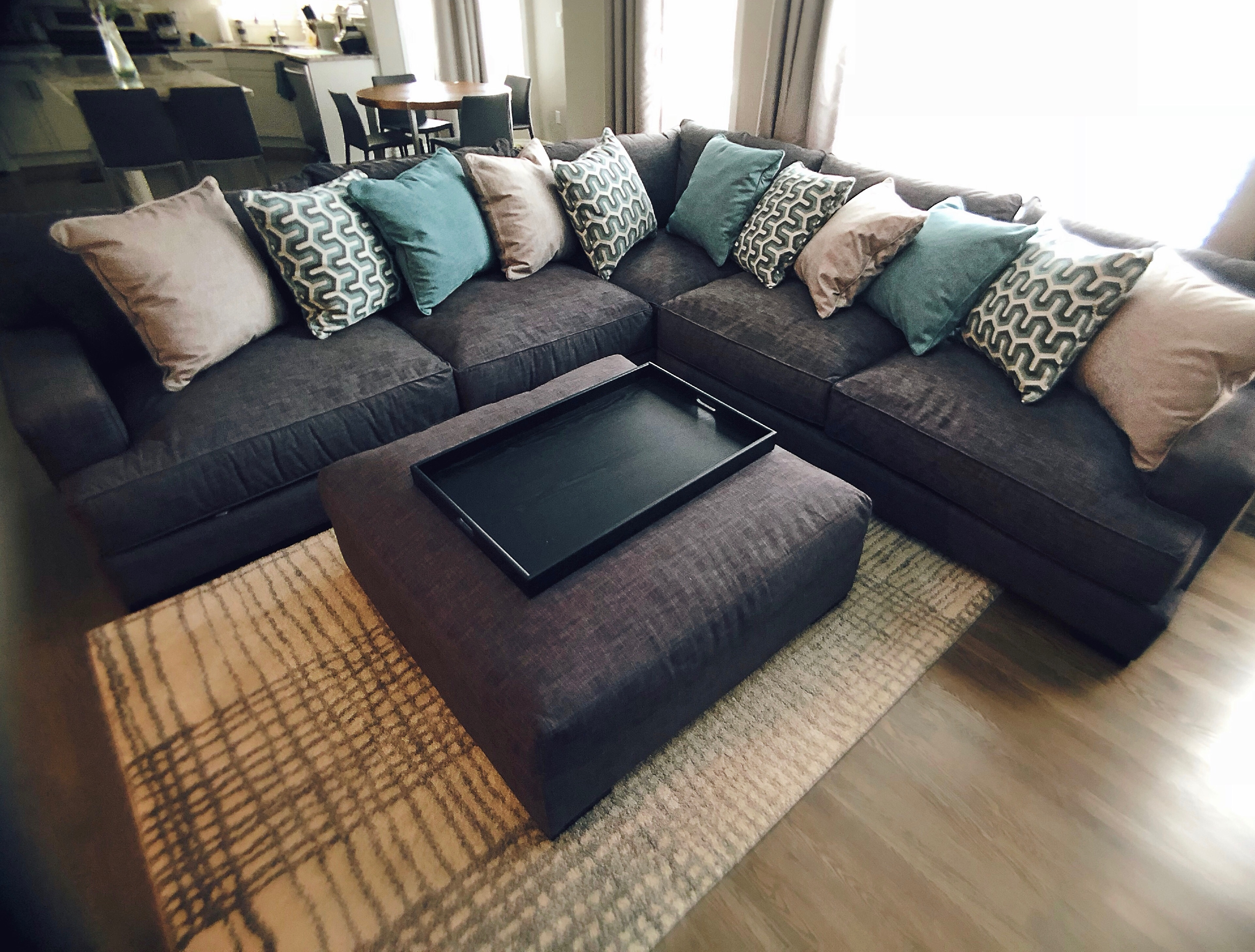 Our cozy family room makeover with Reside Furnishings
