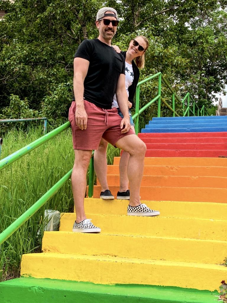Rainbow Stairs Calgary