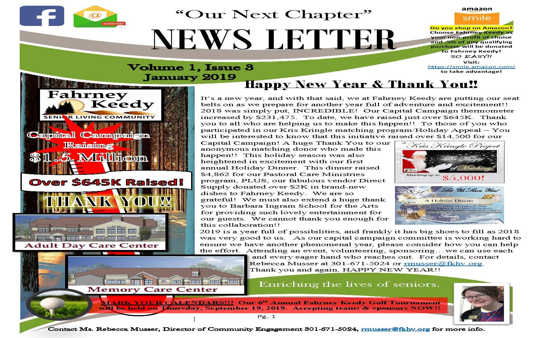 Fahrney Keedy Newsletter