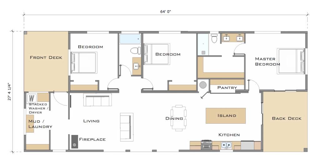 The Steamboat Floor Plan