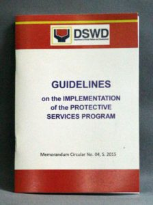 Department of Social Welfare & Development Manual