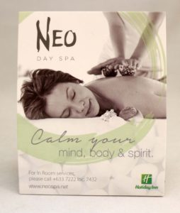 Neo Day Spa Tent Cards