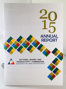 National Wages and Productivity Commission 2015 Annual Report #vjgraphicsoffsetprinting #vjgraphics #offsetprinting #growthroughprint #annualreport