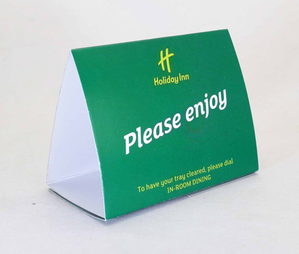 Holiday Inn Tent Cards