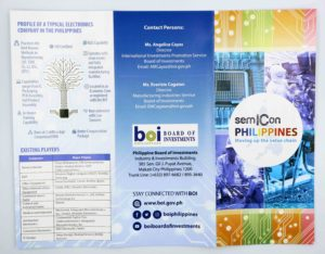 Board of Investments SemiCon Philippines Flyers #vjgraphicsoffsetprinting #vjgraphics #offsetprinting #growthroughprint #flyers