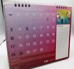Credit Information Corporation Desk Calendar #vjgraphicsprinting #growthroughprint #offsetprinting #deskcalendar