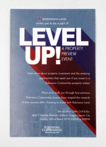 Robinsons Land Corporation Level Up Flyers #vjgraphicsprinting #offsetprinting #flyers #growthroughprint — with Robinsons Communities and Robinsons Communities/ Robinsons Land Corp..