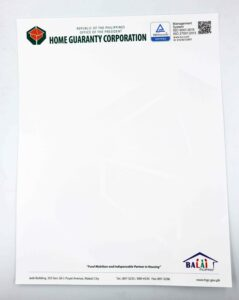 Home Guaranty Corporation Letterhead #vjgraphicsprinting #growthroughprint #letterhead — with Home Guaranty Corporation