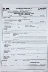 DSWD Beneficiary Data Update Request Form #vjgraphicsprinting #businessforms