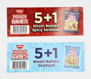 Universal Robina Corporation Nissin Ramen 5+1 Insert Cards #vjgraphicsprinting #offsetprinting #growthroughprint #inserts #posters — with Nissin Cup Noodles, Nissin Universal Robina Corporation and Nissin Yakisoba