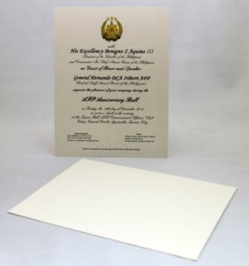 Armed Forces of the Philippines Invitation #vjgraphicsprinting #growthroughprint #invitations #offsetprinting