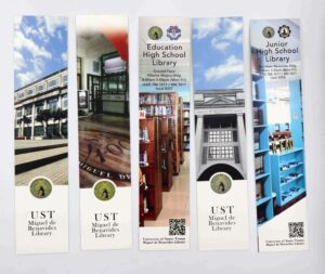 UST Miguel de Benavides Library Bookmark #vjgraphicsprinting #growthroughprint #bookmarks #offsetprinting — with Miguel de Benavides Library - UST and University of Santo Tomas