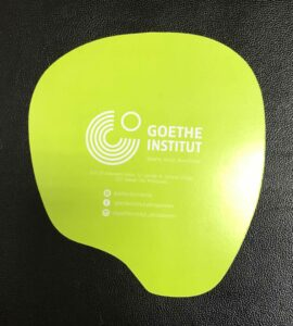 Goethe Institut Paper Fan #vjgraphicsprinting #offsetprinting #growthroughprint #fan — with Goethe-Institut Philippinen in Quezon City, Philippines