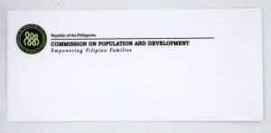 Commission on Population and Development Letter Envelope #vjgraphicsprinting #offsetprinting #growthroughprint #envelopes