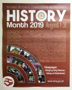 National Historical Commission of the Philippines History Month Poster — with National Historical Commission of the Philippines in Quezon City, Philippines
