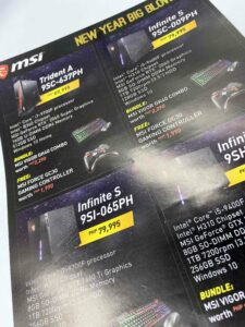 MSI Philippines Flyers #growthroughprint #flyers #offsetprinting #vjgraphicsprinting — with MSI Gaming in Quezon City, Philippines