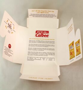 URC Calbee Honey Butter Box #packaging #vjgraphicsprinting #box #offsetprinting#growthroughprint — with Calbee PH and Universal Robina Corporation- Head Office