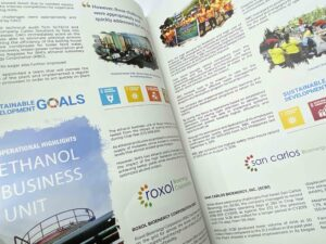 Roxas Holdings, Inc Annual Report #vjgraphicsprinting #growthroughprint #annualreport #offsetprinting #digitalprinting — with Roxas Holdings Inc. Makati Office