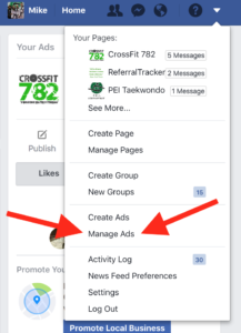 Gym Marketing: Facebook Manage Ads