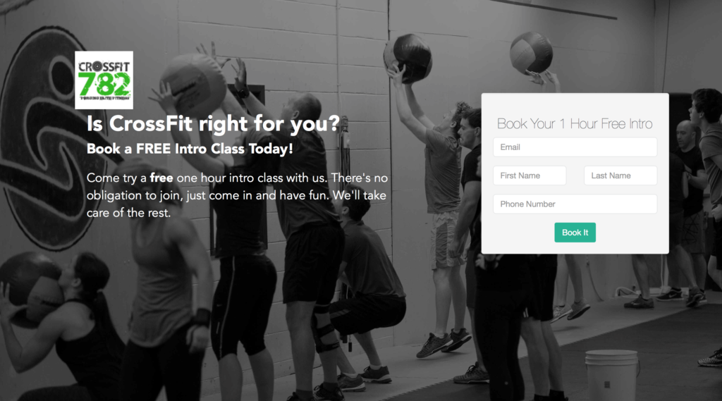 CrossFit 782 Landing Page