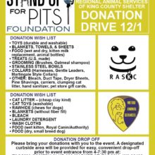 SUFP DONATION DRIVES HAVE RAISED $47,442.00 WORTH OF SHELTER SUPPLIES SO FAR THIS YEAR!!! TACOMA IS NEXT!!