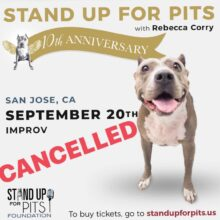 San Jose Stand Up For Pits – cancelled