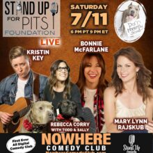 VIRTUAL STAND UP FOR PITS JULY 11TH!!! GET YOUR TICKETS TODAY!!