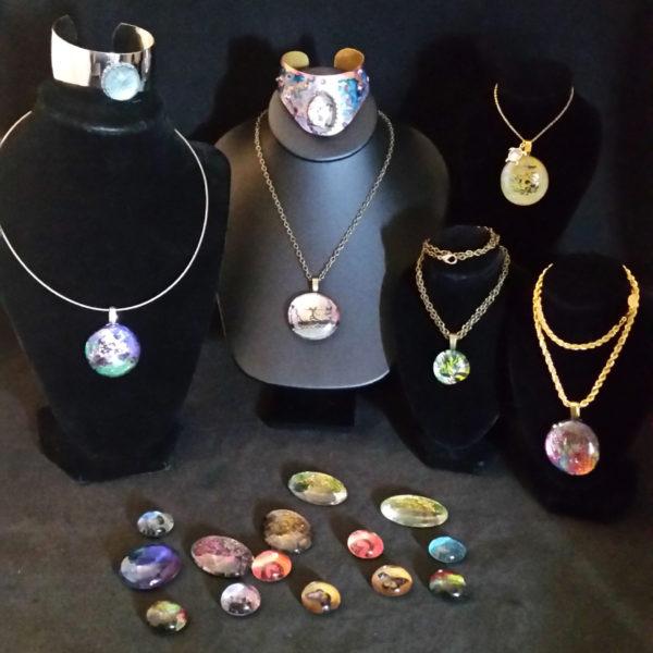 DIY Faux Dichroic Glass Jewelry