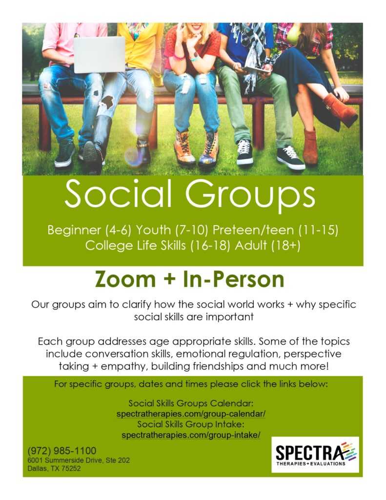 Social skills groups Spectra Therapies