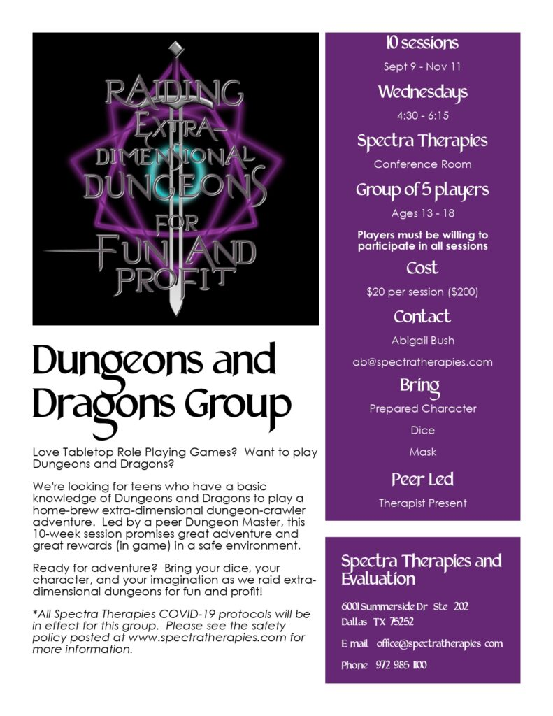 Dungeons & Dragons social skills group