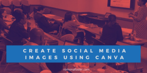 Create social media posts with canva