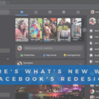 facebook's redesign 2020 with dark mode