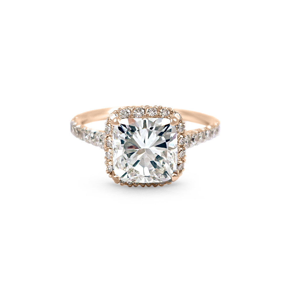 engagement ring shape, Scout Mandolin Adore Halo Cushion Cut Engagement Ring