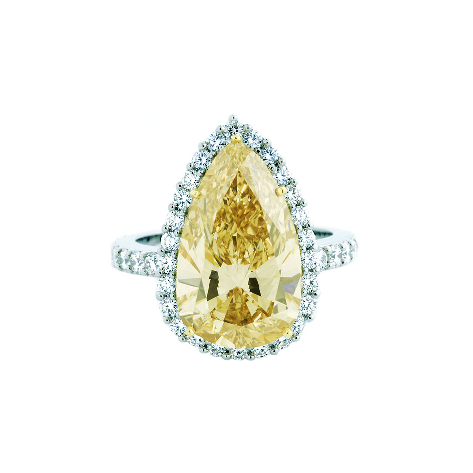 engagement ring shape, Scout Mandolin Goldie Pear Diamond Engagement Ring