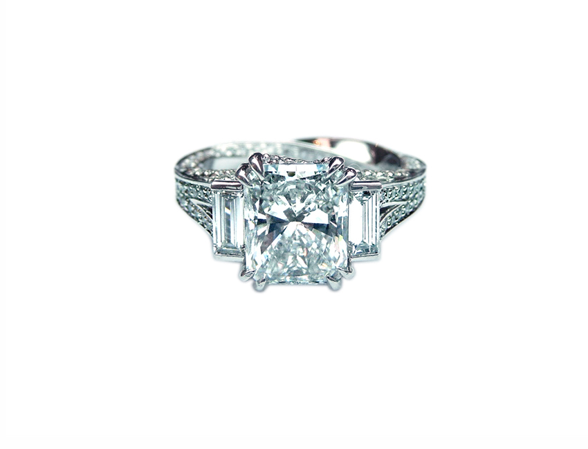 engagement ring shape, Scout Mandolin Radiant Cut Diamond Engagement Ring