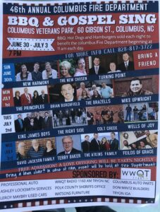 poster of 46th Annual Columbus Department BBQ and Gospel Sing