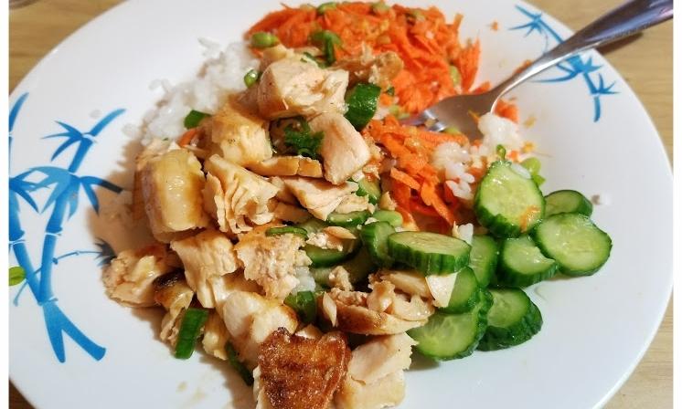Arctic Char Teriyaki Poke Bowl with Carrot-Ginger Salad & Sushi Rice